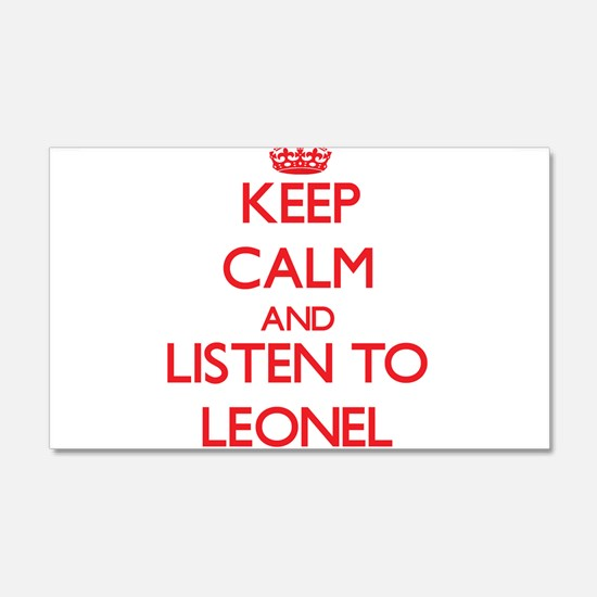 Keep Calm and Listen to Leonel Wall Decal