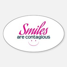 Smiles Are Contagious - Oval Decal