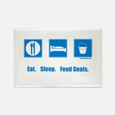 Eat. Sleep. Feed goats. Rectangle Magnet