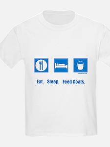 Eat. Sleep. Feed goats. T-Shirt