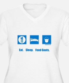 Eat. Sleep. Feed goats. T-Shirt