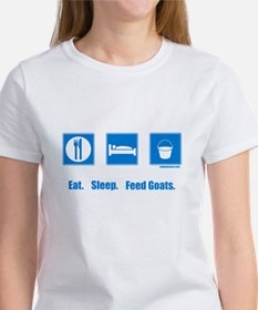 Eat. Sleep. Feed goats. Women's T-Shirt