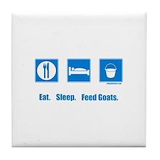 Eat. Sleep. Feed goats. Tile Coaster