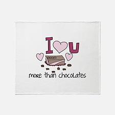 More Than Chocolates Throw Blanket
