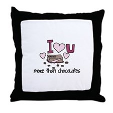 More Than Chocolates Throw Pillow
