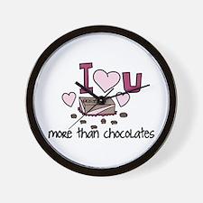 More Than Chocolates Wall Clock