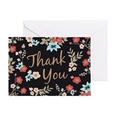 Kimono Print Thank You Greeting Cards