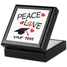Personalize Peace Love Grad Keepsake Box