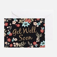 Kimono Print Get Well Soon Greeting Cards