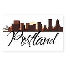 Portland Oregon Skyline Decal