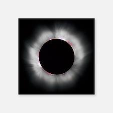 """Total Solar Eclipse 1999 Square Sticker 3"""" x 3"""""""