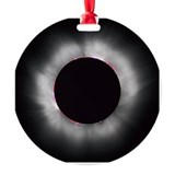 Total solar eclipse 1999 Round Ornament