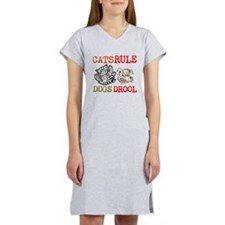 CATS Rule Dogs Drool Women's Nightshirt