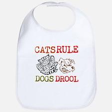 CATS Rule Dogs Drool Bib