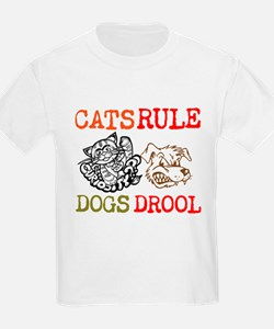 CATS Rule Dogs Drool T-Shirt