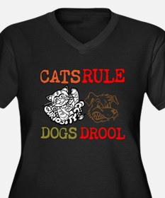 CATS Rule Dogs Drool Plus Size T-Shirt