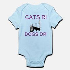 Cats Rule Dogs Drool Body Suit