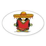 Fiesta Penguin Oval Sticker