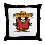 Fiesta Penguin Throw Pillow
