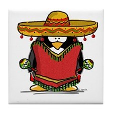 Fiesta Penguin Tile Coaster