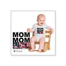 "baby with chair   Square Sticker 3"" x 3"""