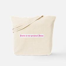 Justin is my personal Jesus Tote Bag