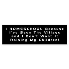 Homeschool Bumper Sticker/black
