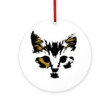 cool cat Round Ornament