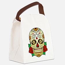 Sugar Skull Canvas Lunch Bag