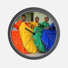 Rainbow Dancers Wall Clock