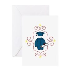 Cap And Gown Greeting Cards