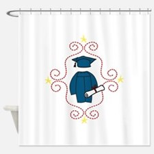 Cap And Gown Shower Curtain