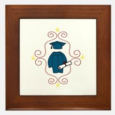 Cap And Gown Framed Tile