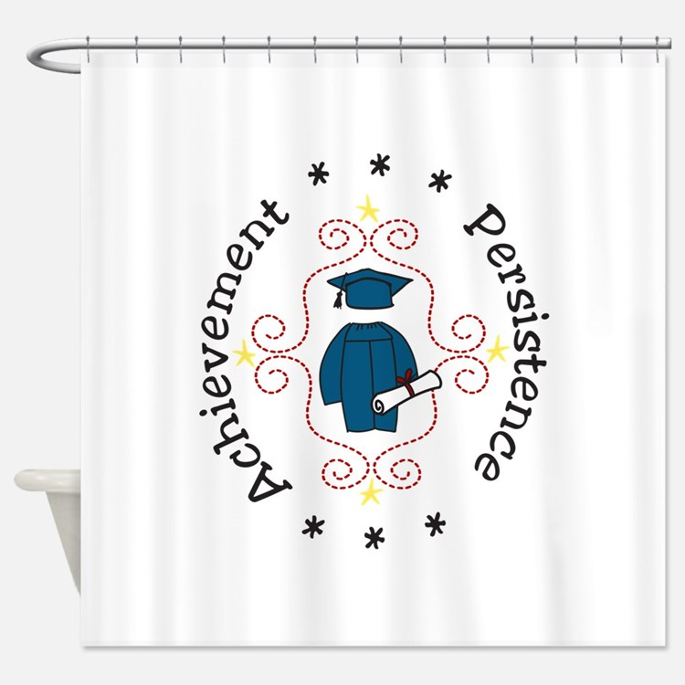 Achievement Persistence Shower Curtain