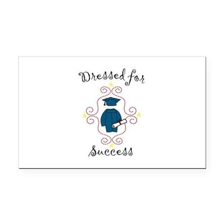 Dressed for Success Rectangle Car Magnet