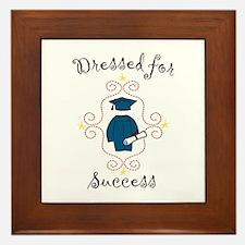 Dressed for Success Framed Tile