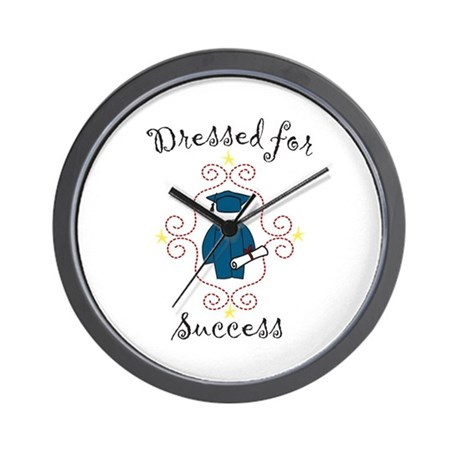 Dressed for Success Wall Clock
