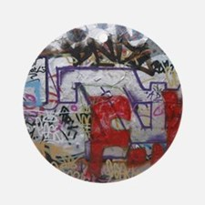 Graffiti Round Ornament