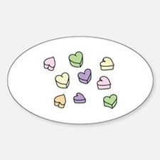 Conversation Hearts Decal
