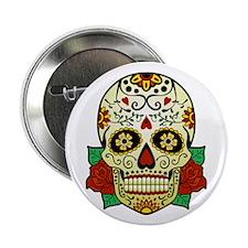 "Sugar Skull 2.25"" Button"