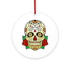 Sugar Skull Ornament (Round)