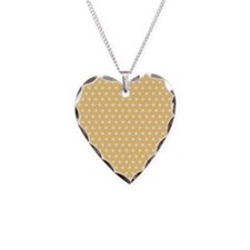 Golden Yellow and White Polka Dots Necklace