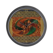 Harvest Moons Dueling Dragons Wall Clock