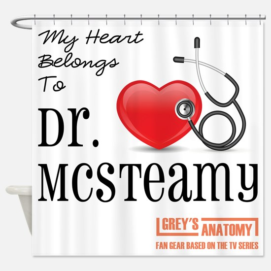 DR. McSTEAMY Shower Curtain
