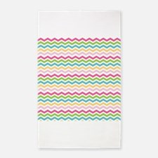 Colorful Pink Blue Green Yellow Chevron Stripes 3'