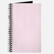 Light Pink and White Checkered Plaid Journal