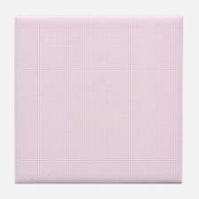 Light Pink and White Checkered Plaid Tile Coaster