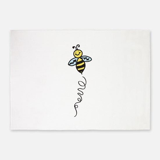 Yellow Bee 5'x7'Area Rug