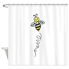 Yellow Bee Shower Curtain