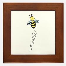 Yellow Bee Framed Tile